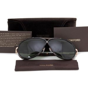 Tom Ford Sunglasses Tortoise w/Green Lens